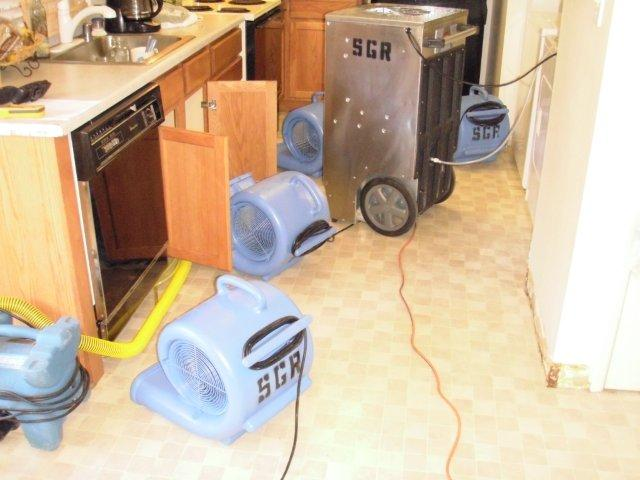 Dehu-and-fans-drying-kitchen1